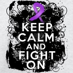 Leiomyosarcoma Keep Calm and Fight On T-Shirt