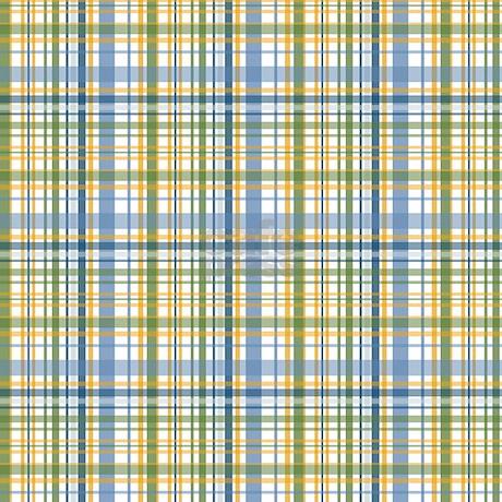 blue green yellow plaid print shower curtain by printedlittletreasures