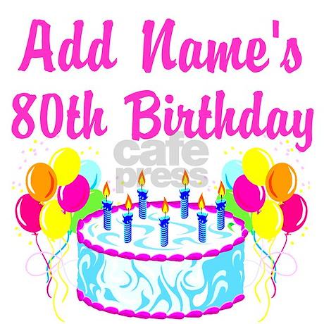 Happy 80th Birthday Throw Blanket By Jlporiginals
