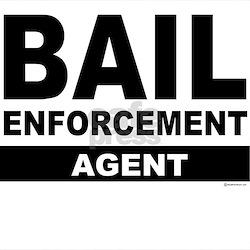 Black Bail Enforcement Logo on Ash Grey T-Shirt