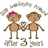 3rd Anniversary Love Monkeys Mug