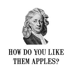 Sir Isaac Newton Apple Shirt