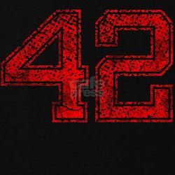 42, Red, Vintage T