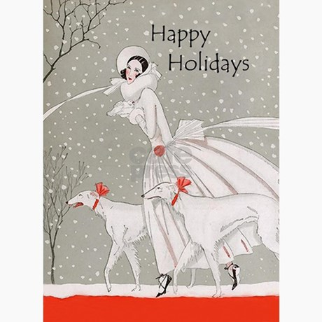 Art Deco Christmas Cards 10pk By Artdecogift