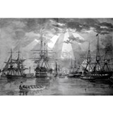 Black white ship Wall Decals
