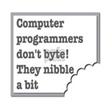 Computer Programmers dont byte they nibble a bit L