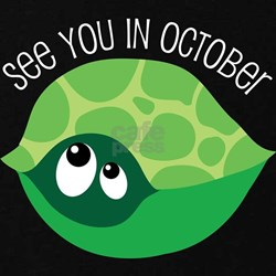 October Due Date Belly Print Turtle T-Shirt