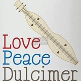 Love Peace Dulcimer Drinking Glass