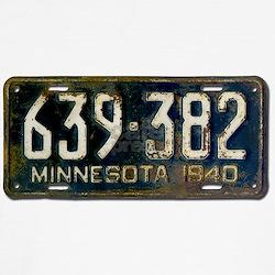 1940 Minnesota License Plate T