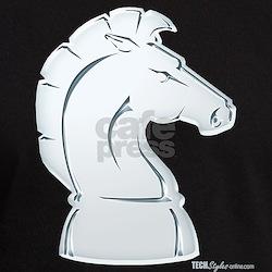 Chess Knight Black T-Shirt T-Shirt