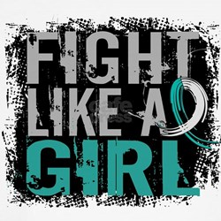 Fight Like a Girl 31.8 Cervical Cancer T-Shirt