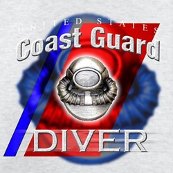 Coast Guard Diver w/ Bubble T-Shirt