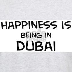 Happiness is Dubai Ash Grey T-Shirt