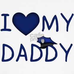 I Love My Police Daddy Kids T-Shirt T-Shirt