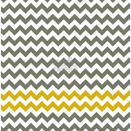 Gray and yellow chevron stripes shower curtain by littlebugdesigns