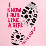 Run like a girl Performance Dry T-Shirts