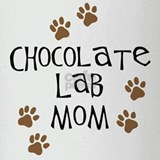 Cute Chocolate lab Drinking Glass