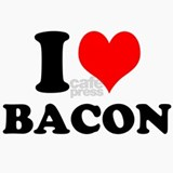 I Love Bacon Ceramic Travel Mug