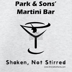 Park & Sons' Martini Bar T-Shirt (White) T-Shi
