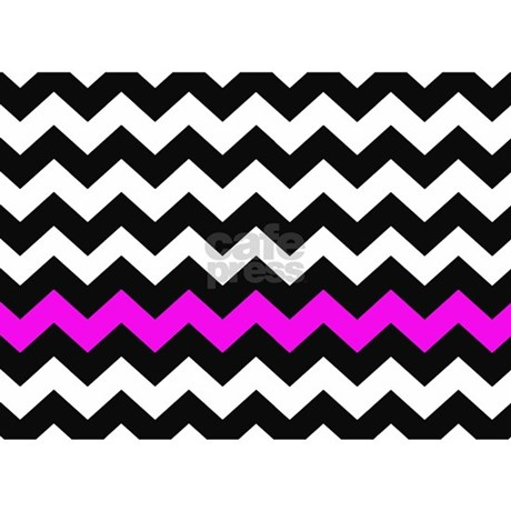 hot pink and black chevron 5 39 x7 39 area rug by chevroncitystripes. Black Bedroom Furniture Sets. Home Design Ideas