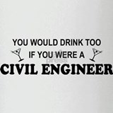 Cute Civil engineering jobs Drinking Glass
