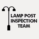 Lamp Post Inspection Team Shot Glass