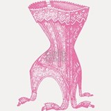 Vintage French Corset Pink Shot Glass