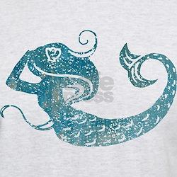 Worn Mermaid Graphic T-Shirt