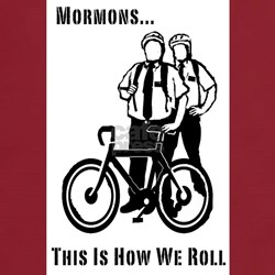 Mormons: This is How We Roll-Red Tee Square
