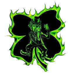 fighting leprechaun irish clover airbrushed design jpg height 250    Fighting Irish Tattoos