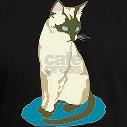 Siamese Cat on Blue T