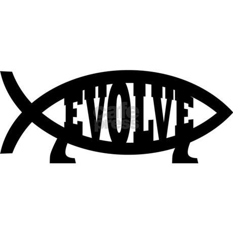 Evolve fish symbol bumper car sticker by bigdogma for Fish symbol on cars