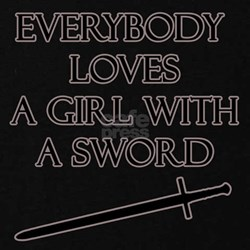 Girl With a Sword T-Shirt