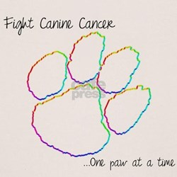 Canine Cancer Paw T-Shirt
