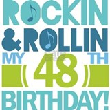 48th Birthday Rock and Roll Mug