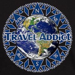 Travel Addict 'Compass' T-Shirt