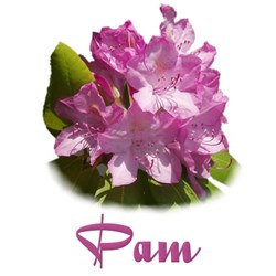 Pam: Purple Flower Tee
