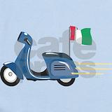 Italian flag vespa Baby Bodysuits