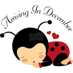 Arriving in December Baby Ladybug Shirt