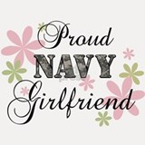Navy Girlfriend [fl camo] Shot Glass