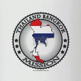 Thailand Bangkok LDS Mission Flag Cutout Map 1 Dri