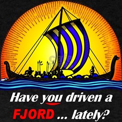 """B&Y """"Have You Driven a Fjord"""" Black T-Shirt"""
