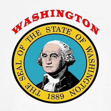 Favorite for Washington state seal coloring page