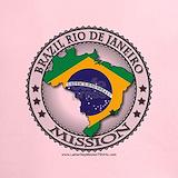 Brazil mission flag rio Performance Dry T-Shirts