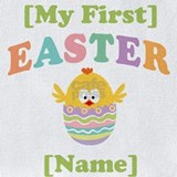 1st easter personalized Bib