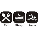Eat, Sleep, Swim Water Bottle
