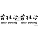Pat. Great Grandma (Chinese Char Black) Mug