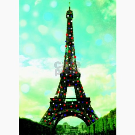 Eiffel Tower Pictures Christmas on Eiffel Tower Christmas Tree Card By Gofrance  Cafepress Co Uk