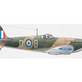 1939 Supermarine Spitfire, side view. Coffee Mug