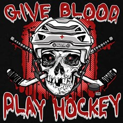 Give Blood Hockey White T